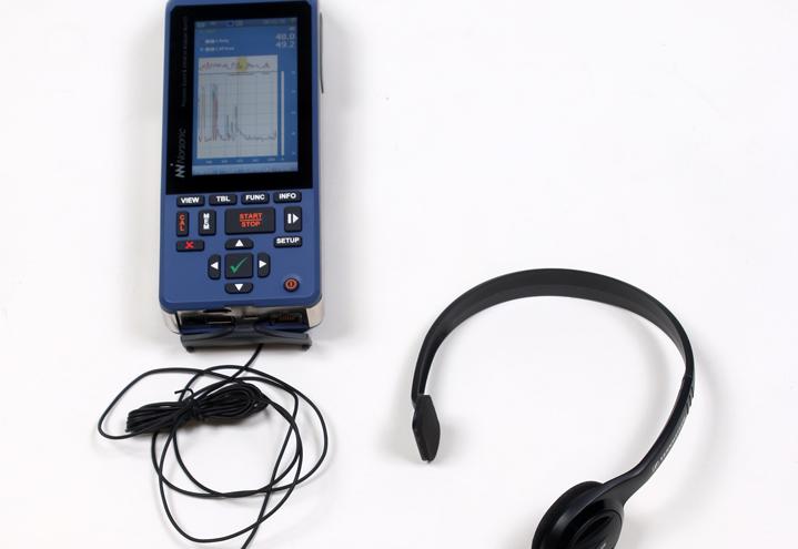 Nor150 støy- og vibrasjonsmåler med headset