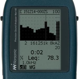 1/1-oktav spektrum 0,5 Hz - 16 kHz