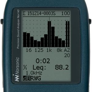 1/1-oktav spektrum 8 Hz - 16 kHz