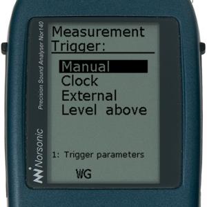 Trigger måling og lydopptak - betingelser