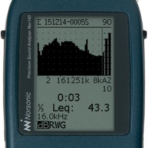 1/3-oktav spektrum 0,4 Hz - 20 kHz