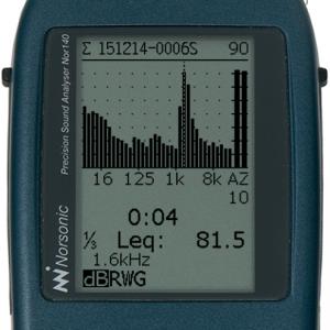 1/3-oktav spektrum 6,3 Hz - 20 kHz