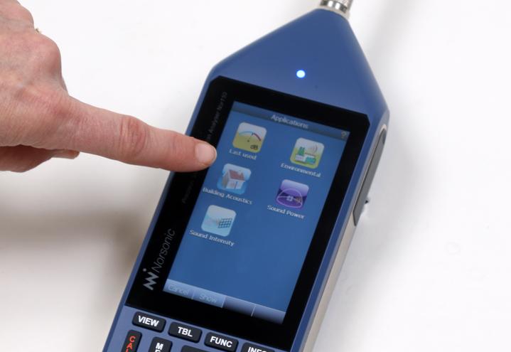 Nor150 støy- og vibrasjonsmåler med berøringsskjerm