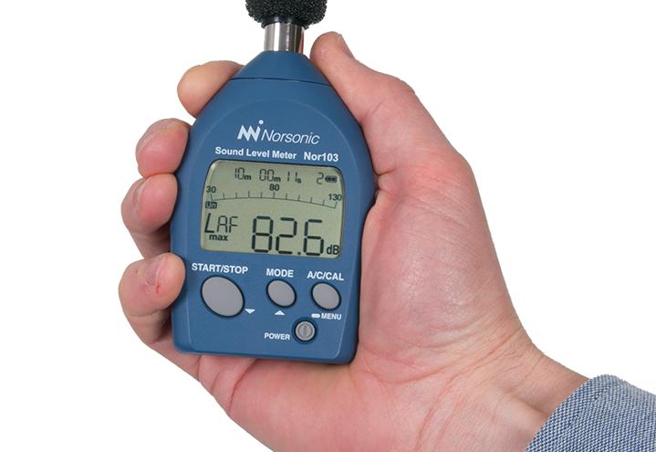 Nor103 støymåler liten og enkel å bruke