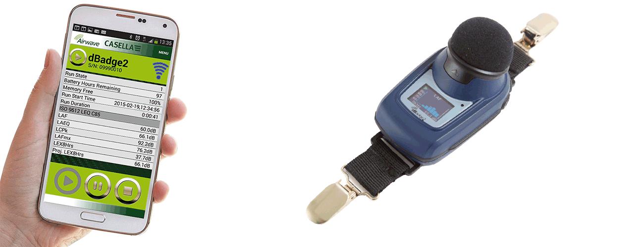 Norsonic er forhandler av dosimeter fra Casella - dBadge