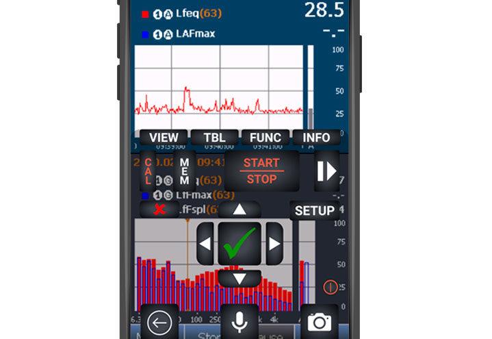 NorVirtual App - se skjermbildet av støymåleren din på smarttelefonen eller nettbrett.